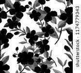watercolor seamless pattern... | Shutterstock . vector #1174779343