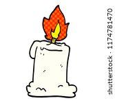 cartoon doodle lit candle | Shutterstock .eps vector #1174781470