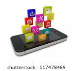 render of an smart phone with... | Shutterstock . vector #117478489