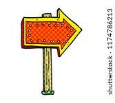 cartoon doodle lit up sign | Shutterstock .eps vector #1174786213
