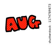 cartoon doodle month of august | Shutterstock .eps vector #1174789873