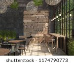 the interior design of the... | Shutterstock . vector #1174790773