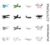 vector design of plane and... | Shutterstock .eps vector #1174792966