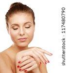 a beautiful young woman  closeup | Shutterstock . vector #117480790