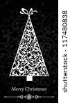 christmas card. christmas tree. ... | Shutterstock .eps vector #117480838