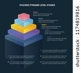 stacked pyramid level stages... | Shutterstock .eps vector #1174819816