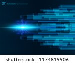 abstract blue virtual... | Shutterstock .eps vector #1174819906