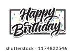 happy birthday lettering design ... | Shutterstock .eps vector #1174822546