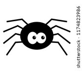 cartoon spider   black spider... | Shutterstock .eps vector #1174823986