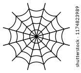 black spider web   black spider ... | Shutterstock .eps vector #1174823989