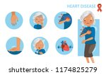 heart disease and heart attack... | Shutterstock .eps vector #1174825279