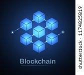 blockchain technology fintech... | Shutterstock .eps vector #1174825819