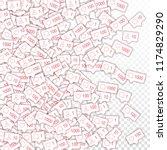 social media icons. social...   Shutterstock .eps vector #1174829290