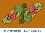 floral decorative element on a... | Shutterstock . vector #1174830799
