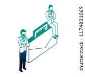 elegant businessmen with... | Shutterstock .eps vector #1174831069