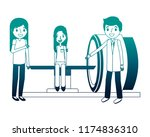 staff medical with patient and... | Shutterstock .eps vector #1174836310