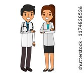 couple doctors characters icon | Shutterstock .eps vector #1174838536