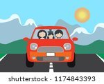 vector illustration of a red... | Shutterstock .eps vector #1174843393