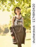 portrait of a beautiful asian...   Shutterstock . vector #1174843420