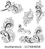 grapevine. vector wine design...