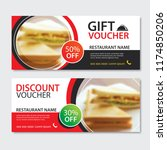 discount voucher sandwich...   Shutterstock .eps vector #1174850206