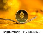 ethereum cryptocurreny fork... | Shutterstock . vector #1174861363