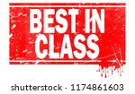 best in class word in red frame ... | Shutterstock . vector #1174861603