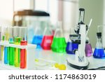 the device on the experimental... | Shutterstock . vector #1174863019