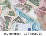 multiple currencies exchange  ... | Shutterstock . vector #1174868710