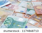 close up of european currency... | Shutterstock . vector #1174868713