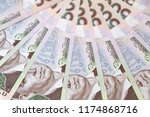 ukrainian currency  five... | Shutterstock . vector #1174868716