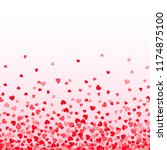 seamless falling heart confetti   Shutterstock .eps vector #1174875100