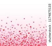 seamless falling heart confetti | Shutterstock .eps vector #1174875133