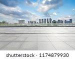 panoramic skyline and modern... | Shutterstock . vector #1174879930