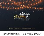 christmas background with... | Shutterstock .eps vector #1174891930
