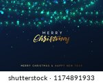 christmas background with... | Shutterstock .eps vector #1174891933