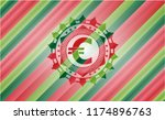 euro icon inside christmas... | Shutterstock .eps vector #1174896763