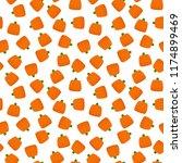 pumpkin candy seamless pattern  ... | Shutterstock .eps vector #1174899469