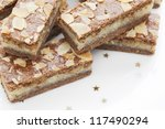Speculaas filled with delicious almond filling - stock photo