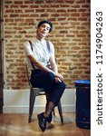 beautiful young woman  model of ... | Shutterstock . vector #1174904263