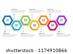 infographic template with... | Shutterstock .eps vector #1174910866