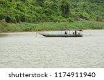 long tail boat of thai... | Shutterstock . vector #1174911940