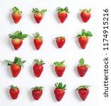 strawberries isolated on white... | Shutterstock . vector #1174915216