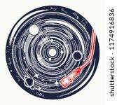 vinyl disk universe and music...   Shutterstock .eps vector #1174916836