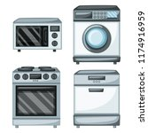 home appliances vector drawings.... | Shutterstock .eps vector #1174916959