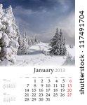 2013 Calendar. January....