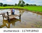children watch the field on... | Shutterstock . vector #1174918963