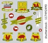 organic farming design elements | Shutterstock .eps vector #117492490