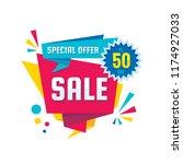sale   vector creative banner... | Shutterstock .eps vector #1174927033
