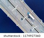 aerial view of highway in the... | Shutterstock . vector #1174927360